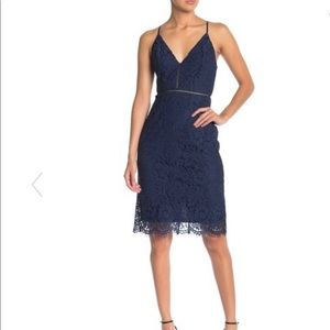 Astr the Label Lace V-Neck Sheath Dress NWT